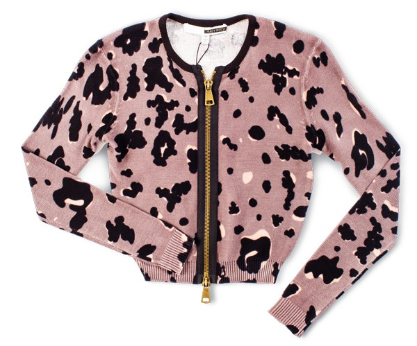 Tracy Reese leopard cropped cardi