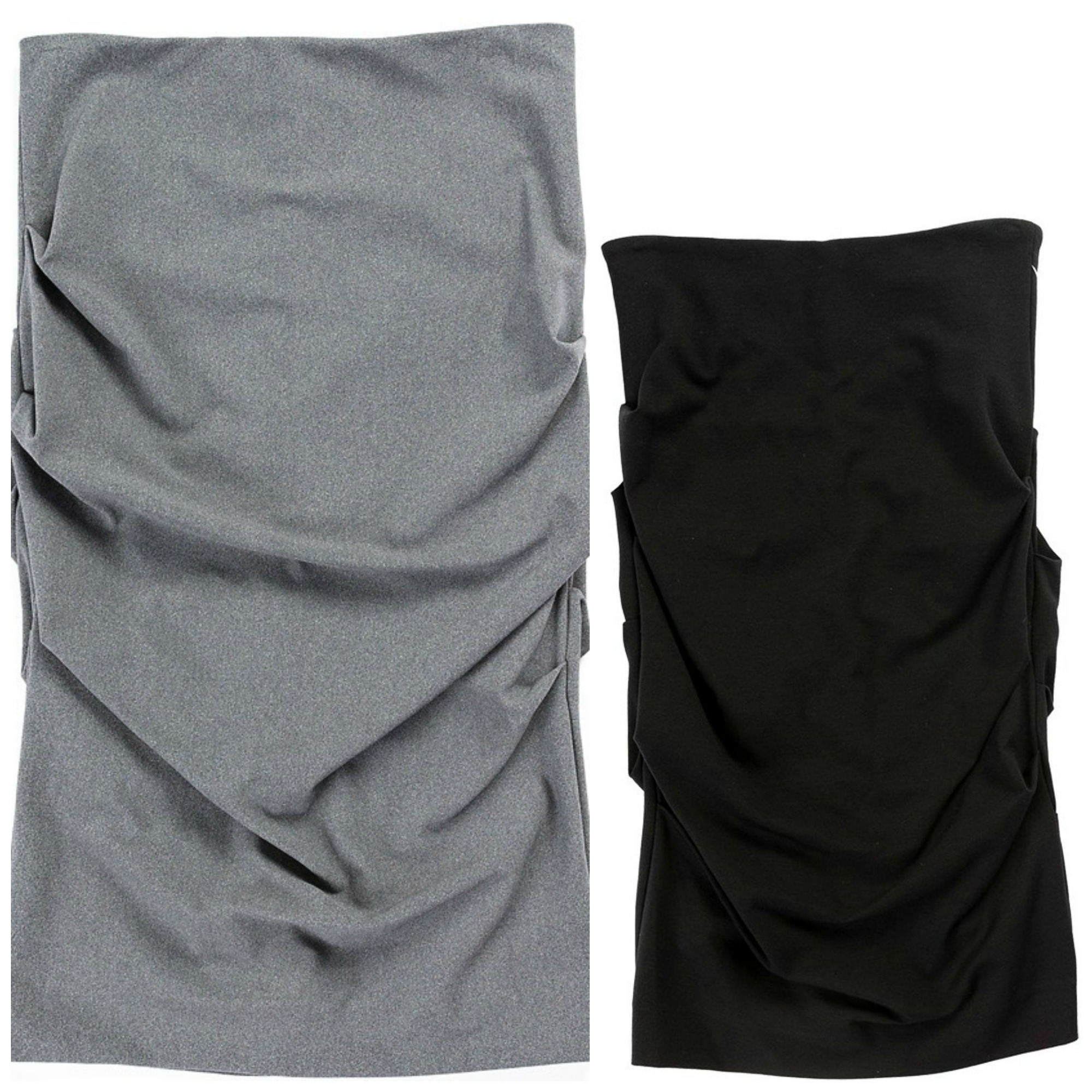 Nicole Miller ruched gray and black pencil skirts basics