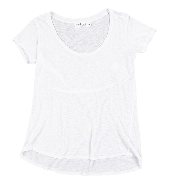 Velvet by Graham and Spencer basic white tshirt
