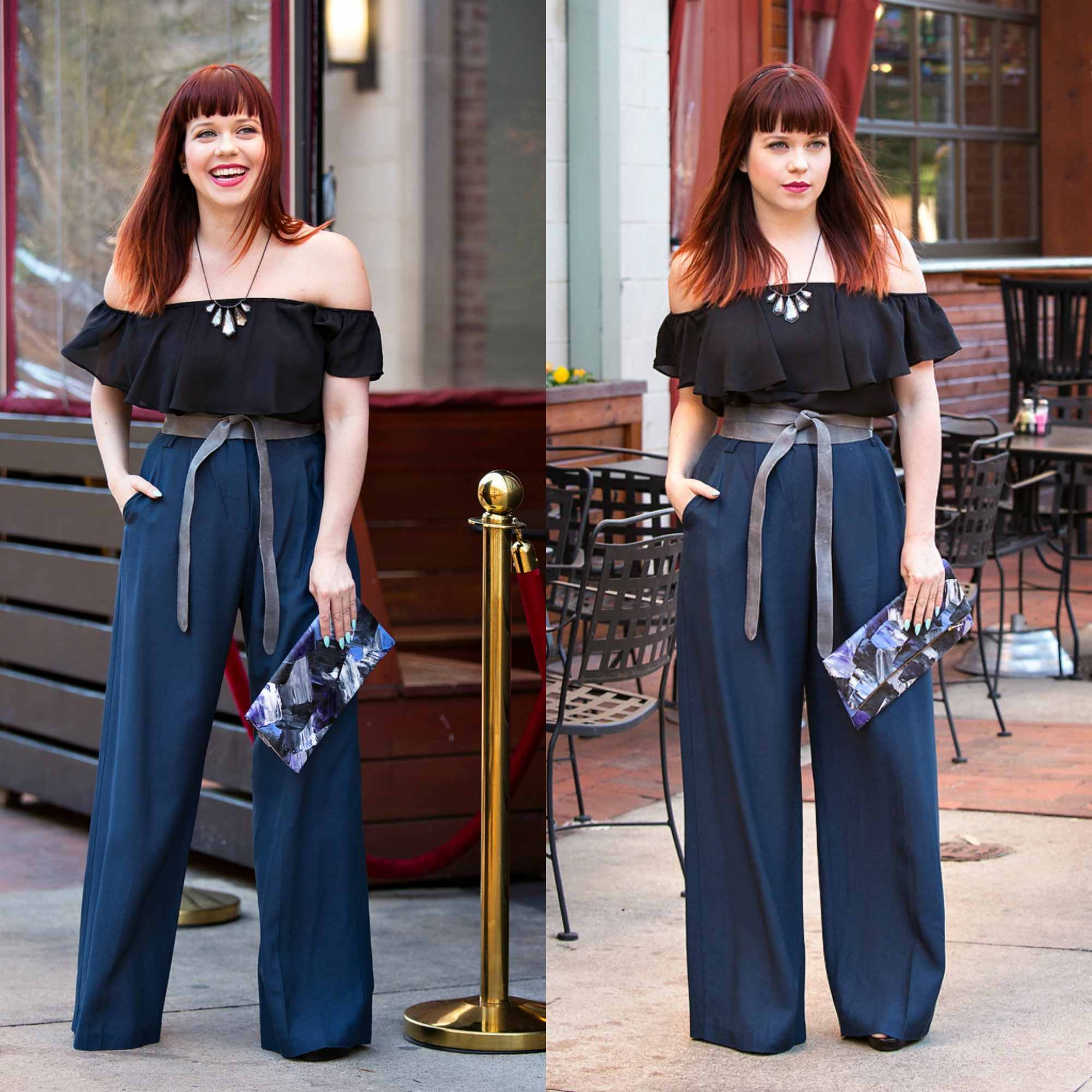 Front Door Fashion Stylist, Kim Wide leg pants evening