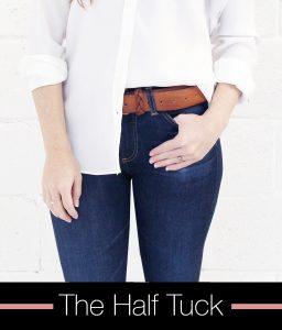 half tuck, front door fashion