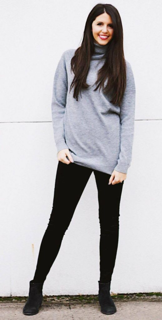 thanksgiving outfit ideas sweater and leggings