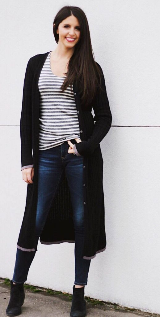 thanksgiving outfit ideas duster cardigan outfit