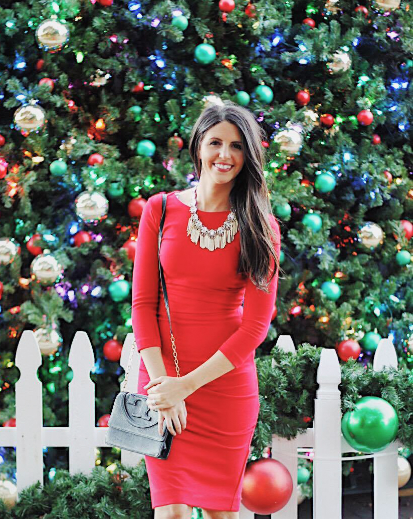 Lady in Red -Holiday party outfit 1. A little red dress is the quintessential holiday party outfit.