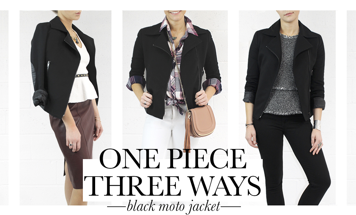 1 Piece, 3 Ways: The Moto Jacket